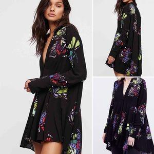 Free People Field of Butterflies Tunic Dress (L)